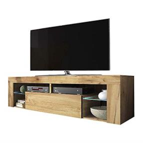 Selsey Mobile per TV, Marrone Chiaro, 50.5 x 140.0 x 35.0 cm