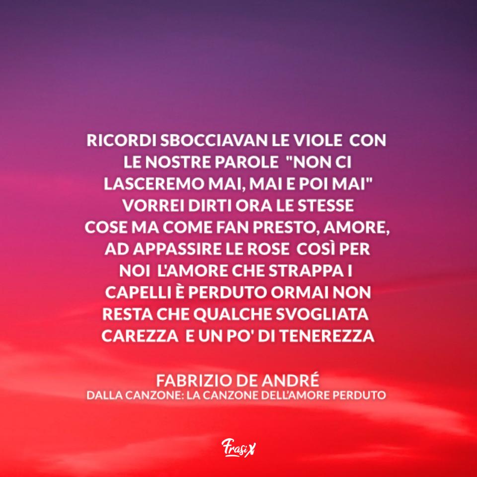 La Canzone dell'Amore Perduto - Fabrizio De André (1967)