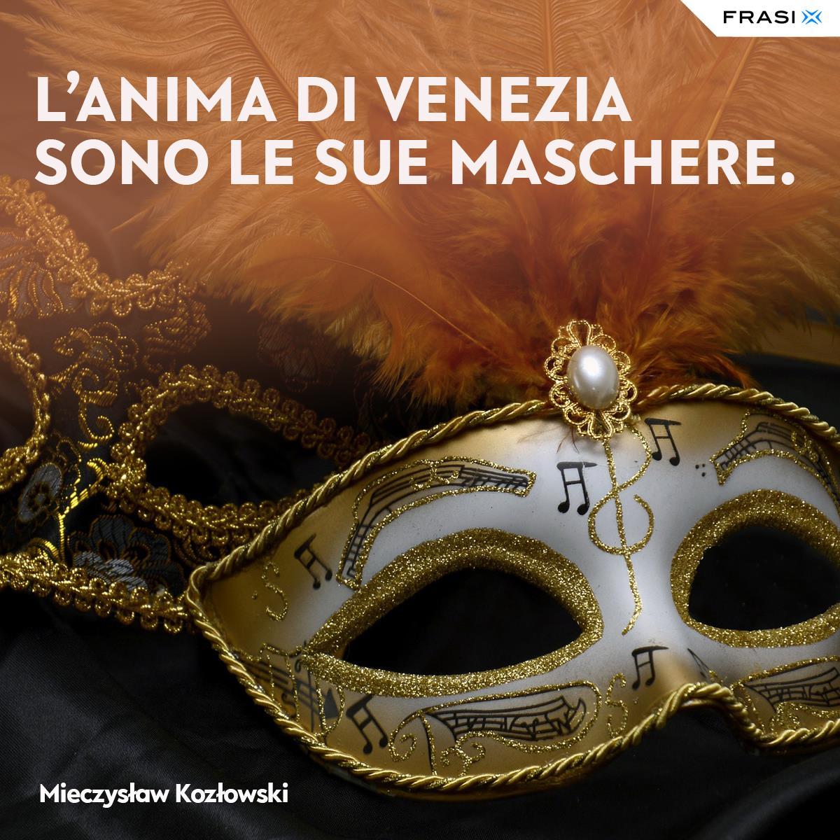 Frasi sulle maschere di Venezia Mieczysław Kozłowski