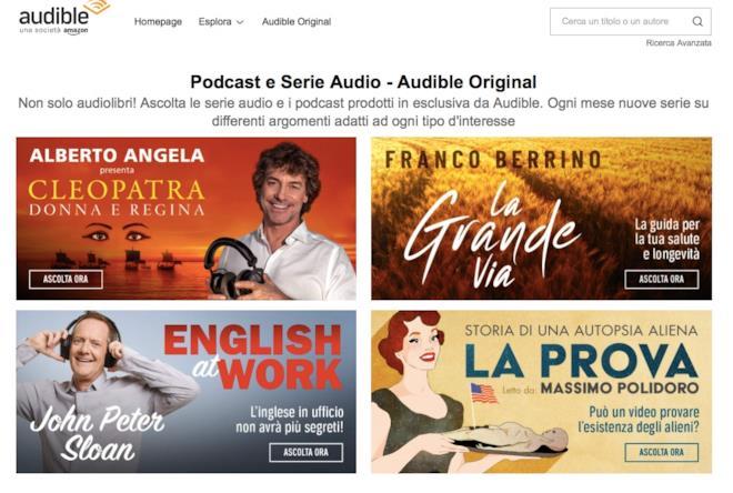 Audible: la sezione podcast