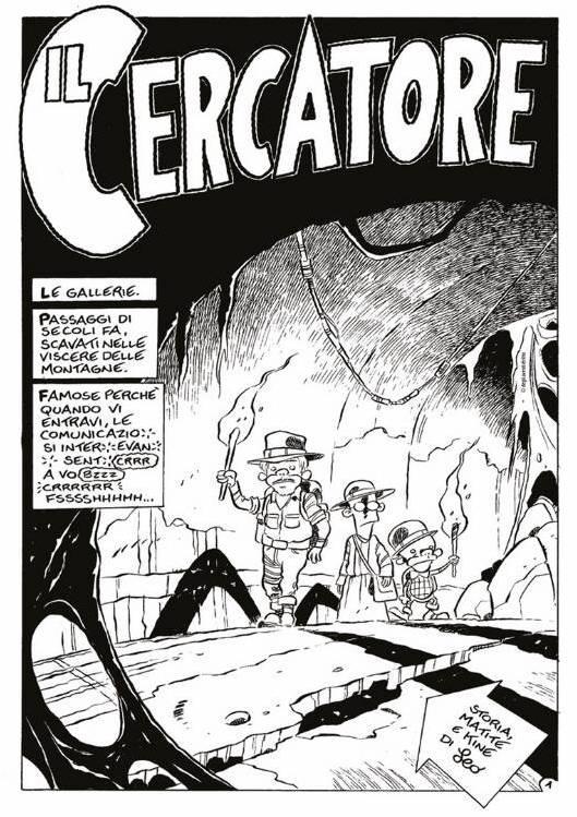 Una tavola tratta da Il Cercatore di Leo Ortolani