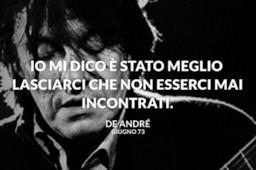 Frase Fabrizio De André Amore