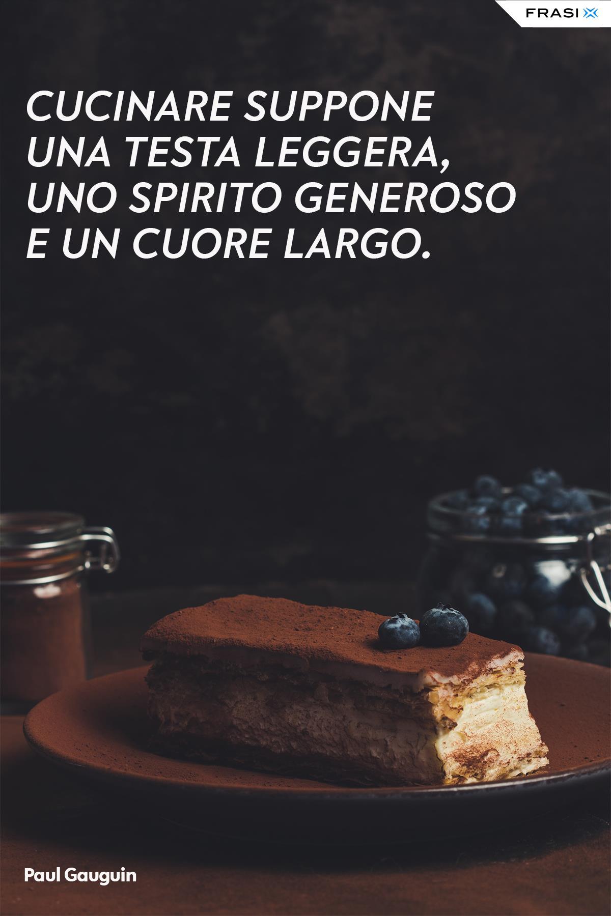 Frasi sul cucinare torte cuore di Paul Gauguin