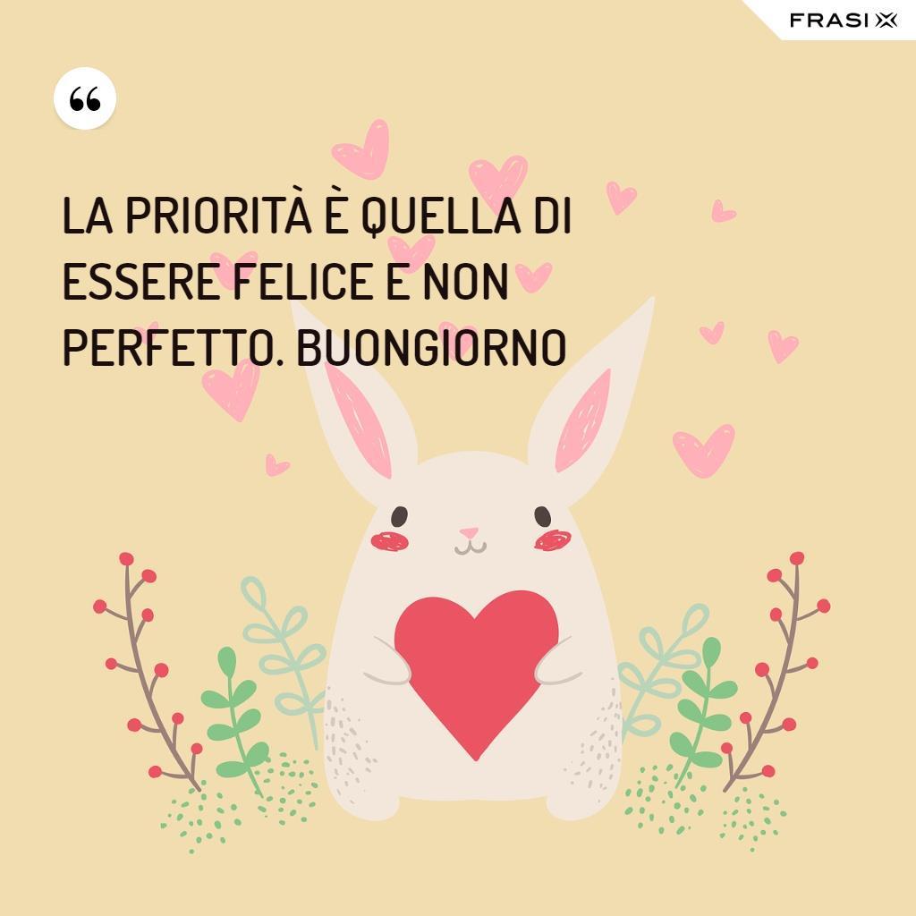 Immagine di buongiorno bella con coniglietto e cuore