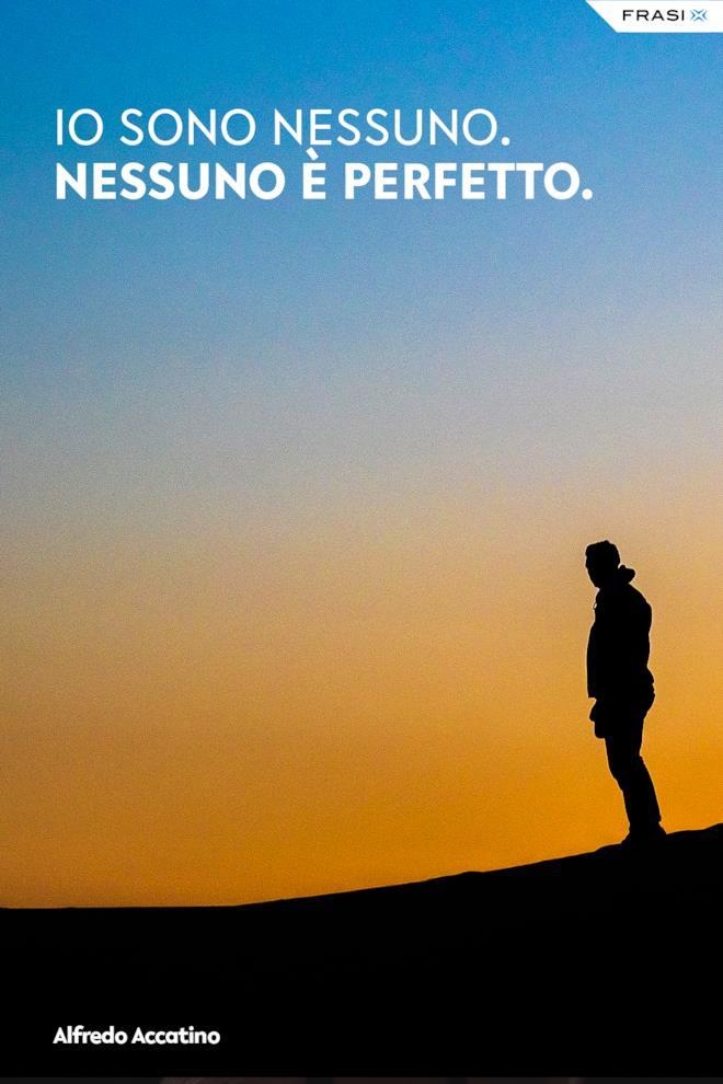 Alfredo Accatino frase sulla perfezione