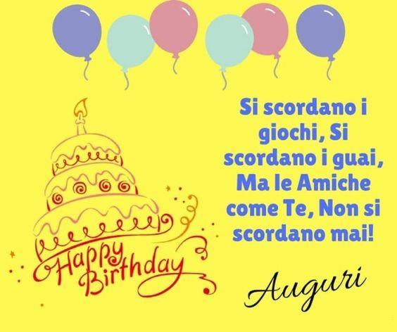 Un biglietto di buon compleanno per una amica - Immagini di buon compleanno, le più simpatiche da scaricare gratis