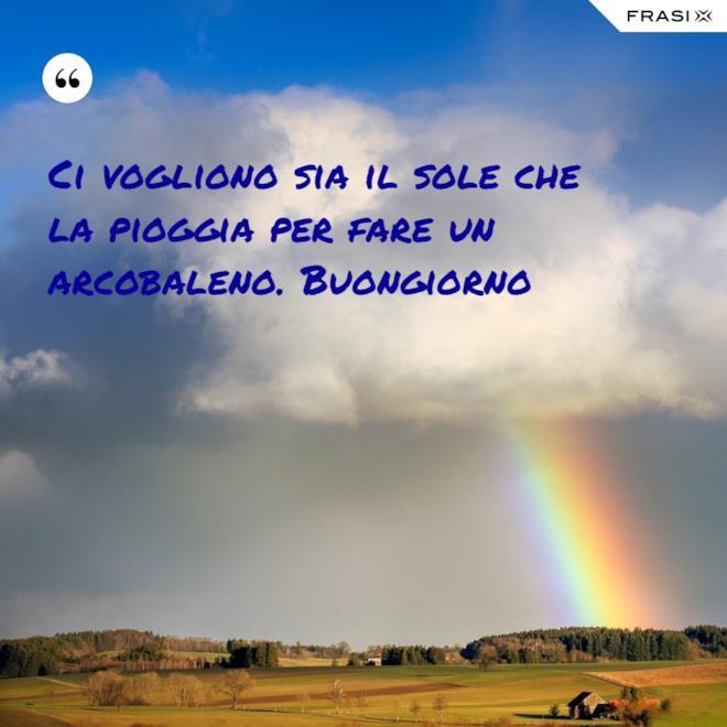 Immagine del buongiorno con arcobaleno colorato