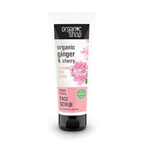Organic Shop Scrub Viso Detergente Ginger & Cherry - 75 ml