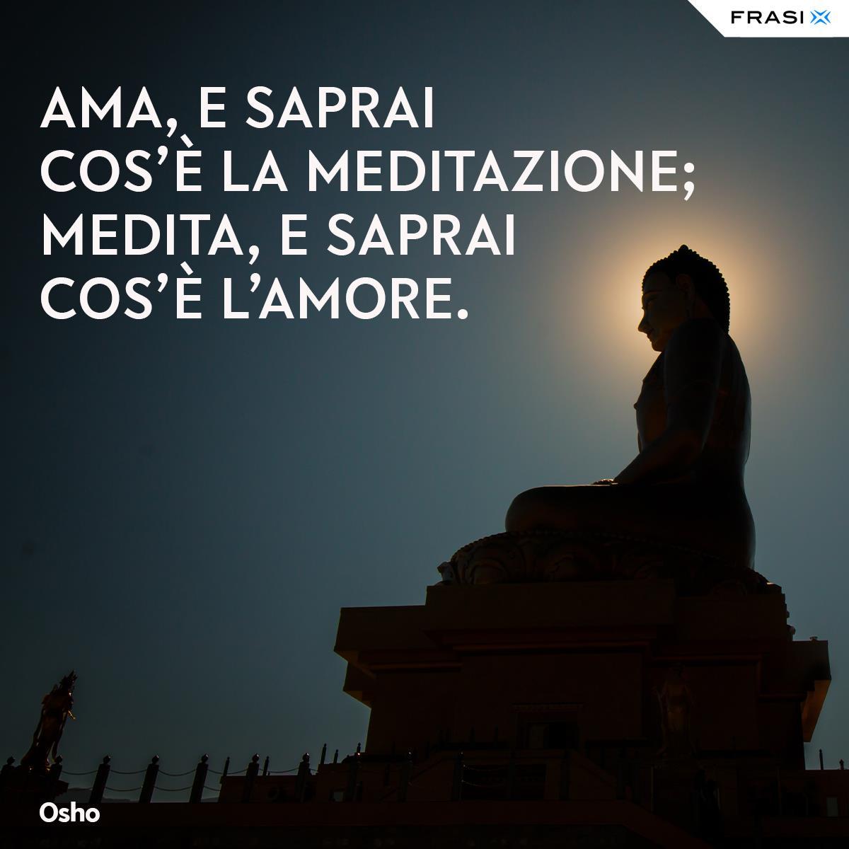 Frasi su amore e meditazione Osho