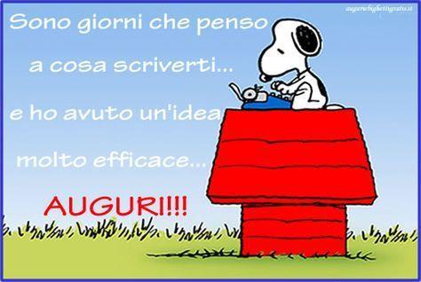 una frase simpatica di buon compleanno e Snoopy - Immagini di buon compleanno, le più simpatiche da scaricare gratis