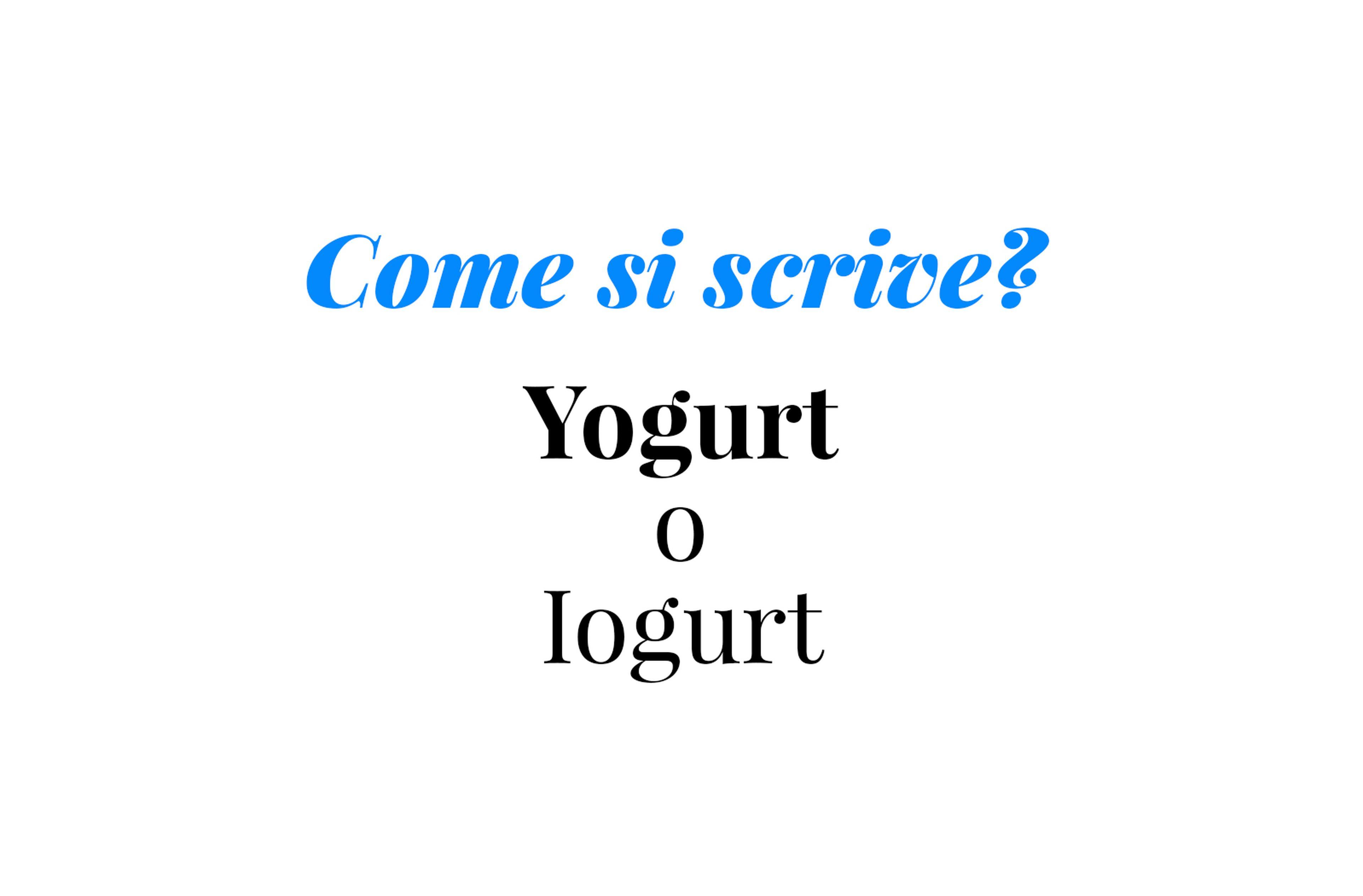 Copertina Come si scrive yogurt