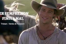Brad Pitt nel film Vento di Passioni con frase