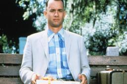 Forrest Gump in una scena del film