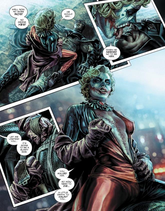 Batman Dannato, pagina anteprima