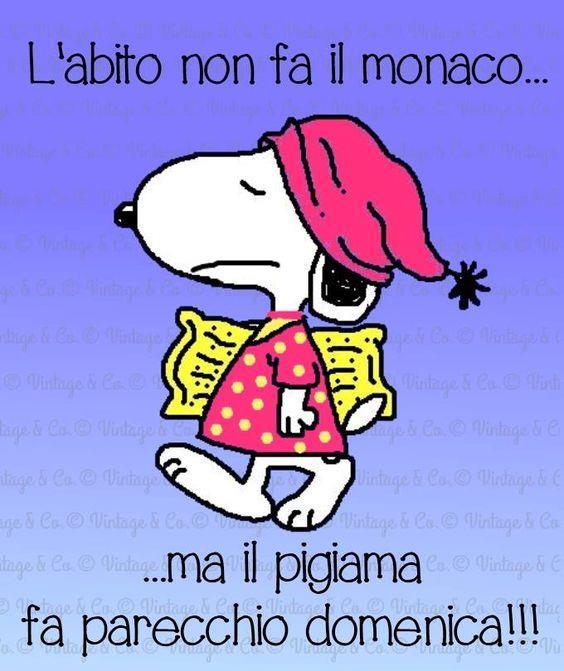 Una vignetta della buona domenica con Snoopy