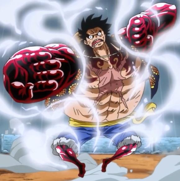 One Piece Rufy in modalità Gear 4