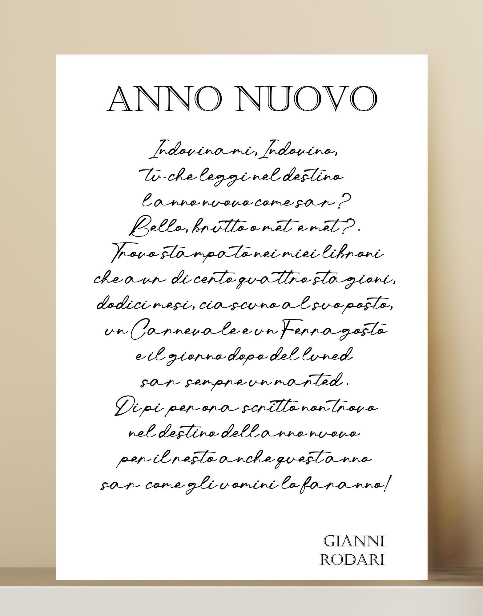 Poesia  - Anno nuovo