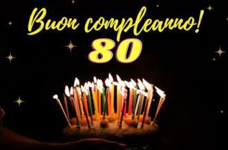 Copertina frasi compleanno 80