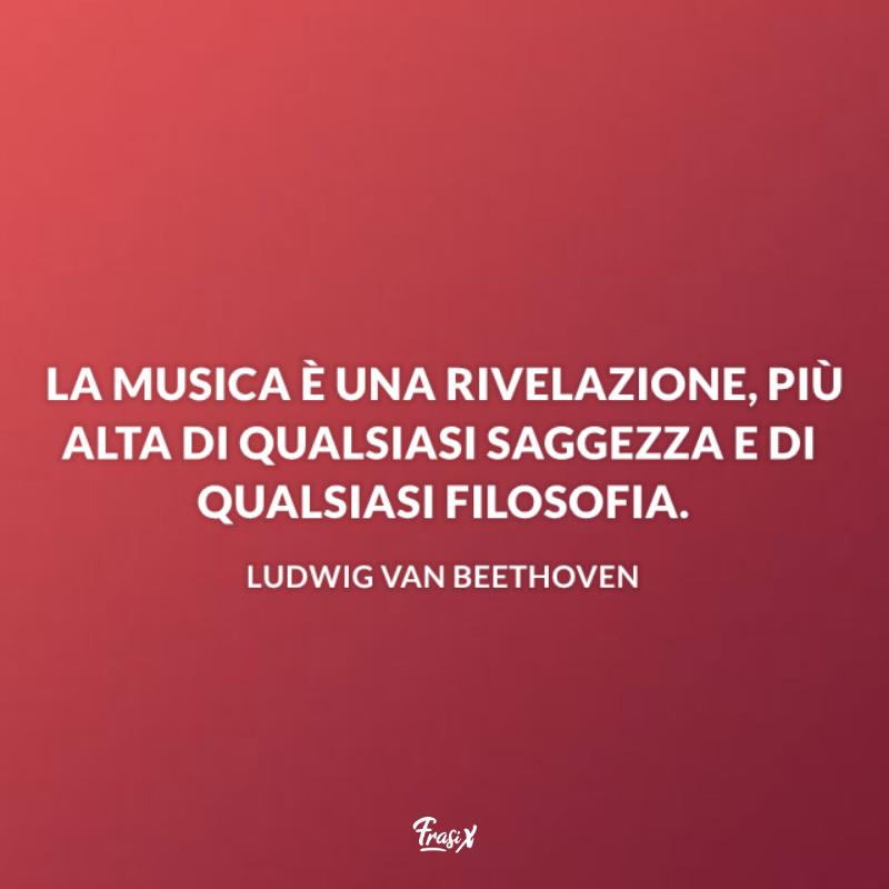 Immagine con citazione beethoven per frasi sull'arte della musica