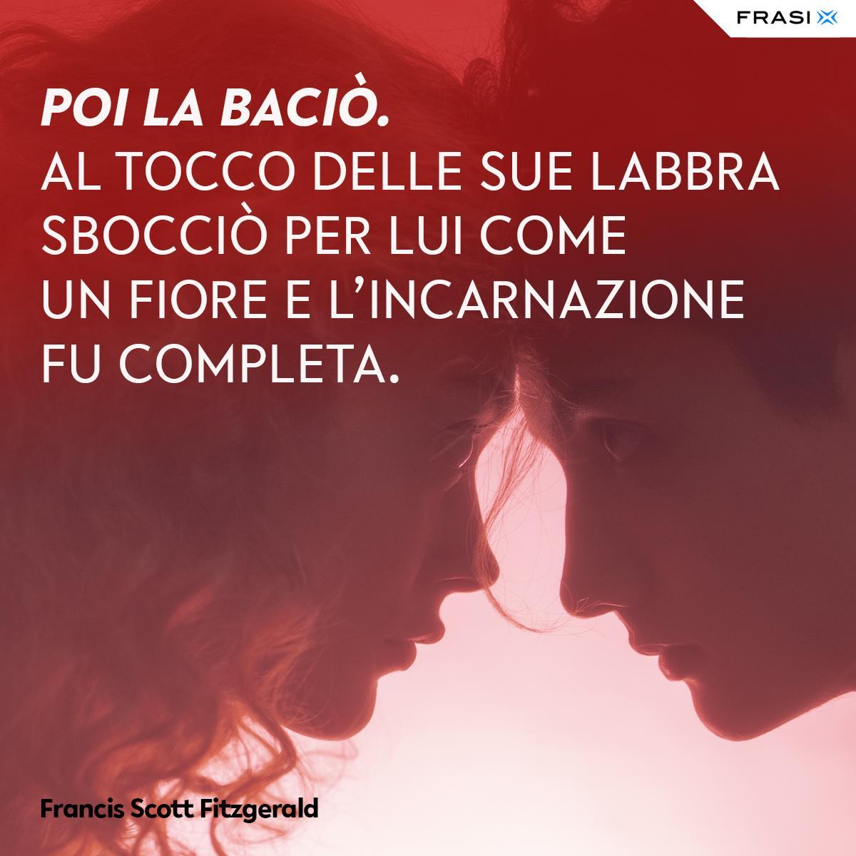 Frasi sul bacio appassionato Francis Scott Fitzgerald