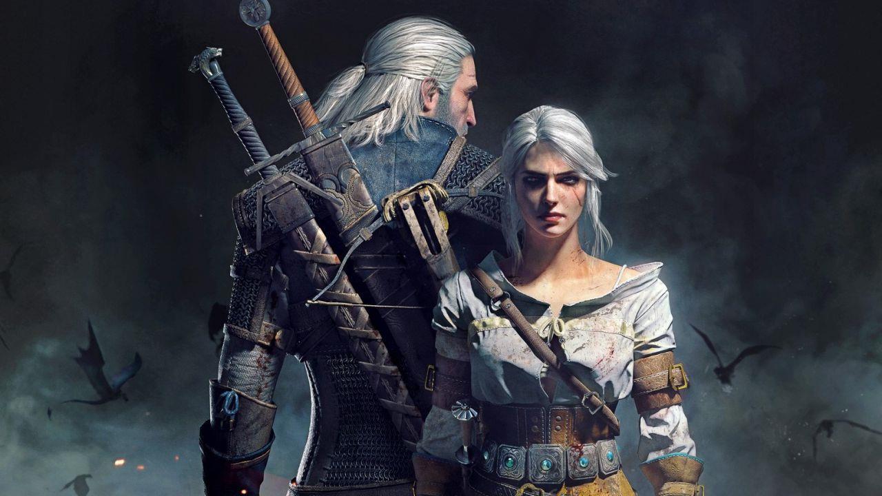 Geralt di Rivia e Cirilla nel videogioco