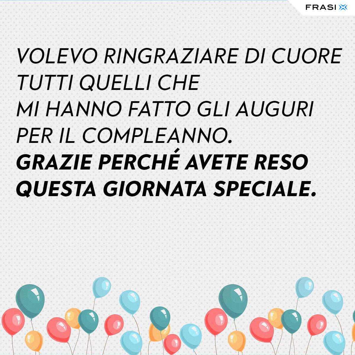 Frasi di ringraziamento per auguri di compleanno