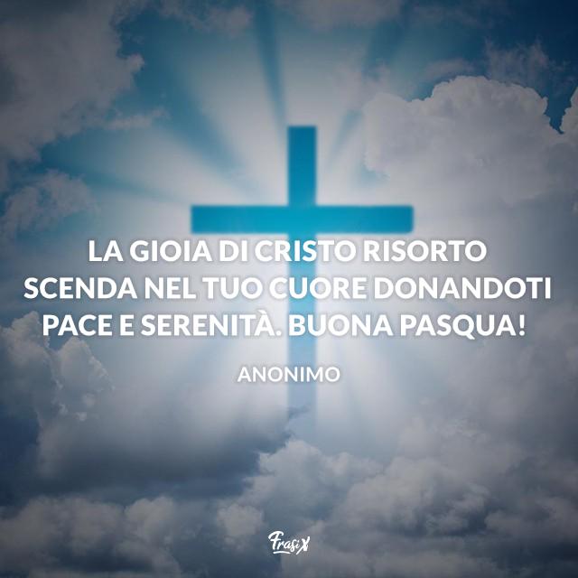 La gioia di Cristo risorto scenda nel tuo cuore donandoti pace e serenità. Buona Pasqua!