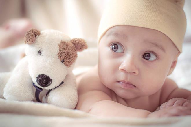 Occhi del bimbo è eredità genetica