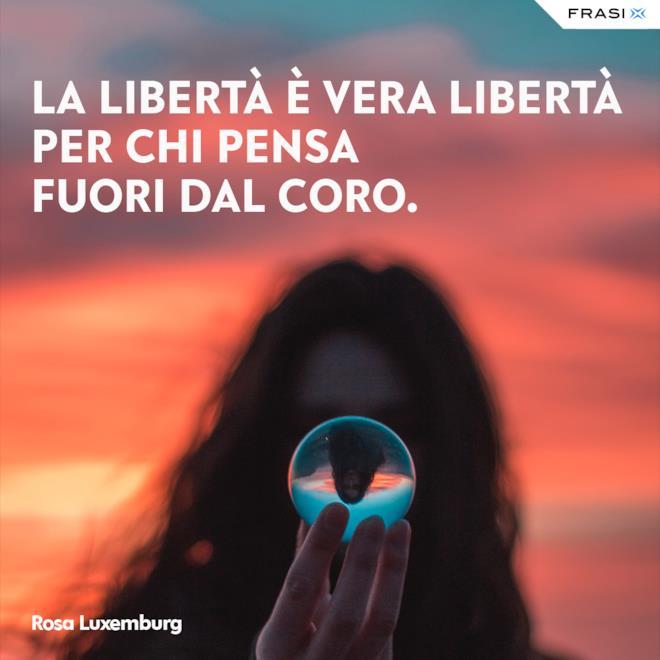 Frasi sulla libertà per social Rosa Luxemburg