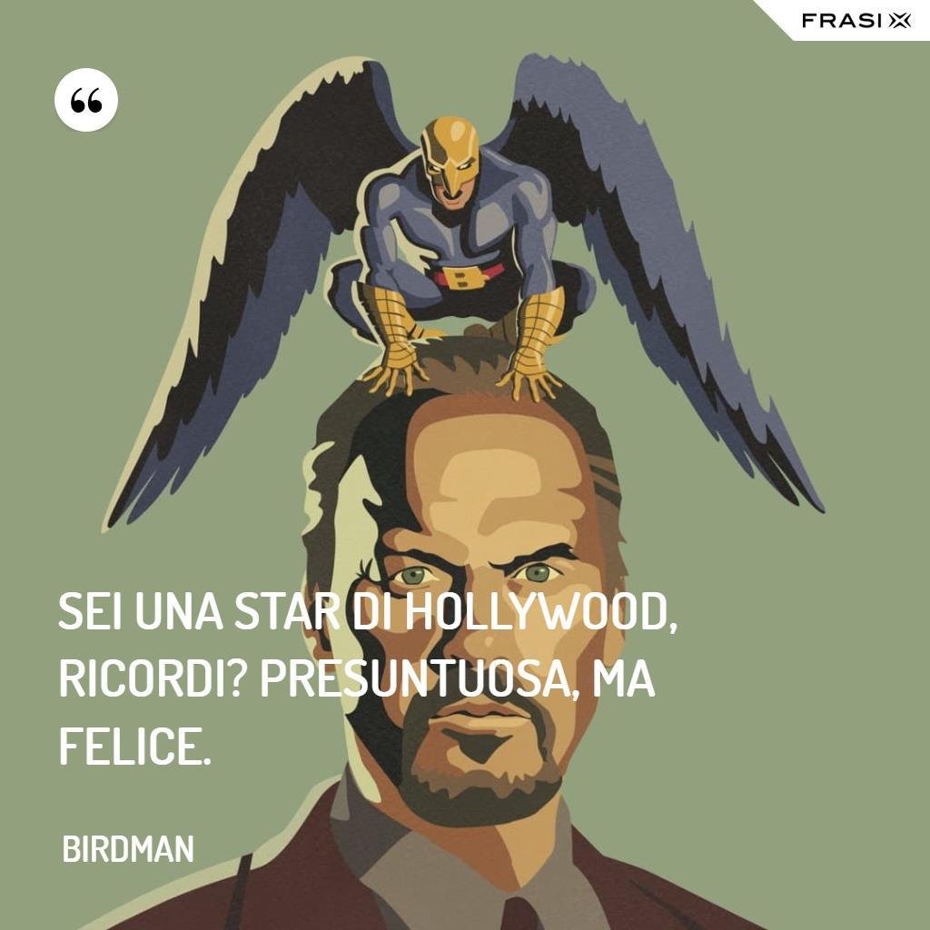 Immagine con frase di Birdman